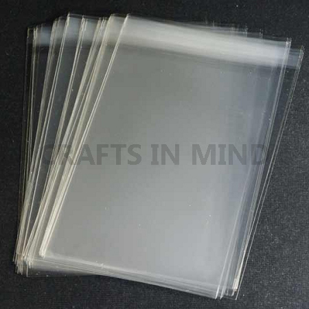 "100 Clear Cellophane Cello Greeting Cards Bags 12/"" x 13.5/"""