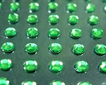 195 Grass Green Self Adhesive Rhinestones