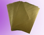 Gold Metallic C7 Envelopes (82 x 113mm)