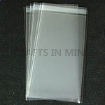 100 - Bookmark 65mm x 220mm Cello Bags Self Seal for Greeting Cards
