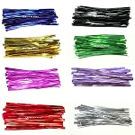 Coloured Metallic Twist Ties (10cm)