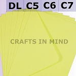 Yellow C6 Envelopes (114 x 162mm)